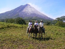 One of our favorite activities in the Arenal area - amazing horseback ride to the base of the Arenal Volcano.